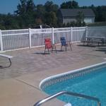 Roman Tumbled Paver Patio - Poolside